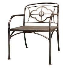 homegig clover metal and wood outdoor chairs set of 2