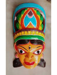 Ancient Art of Wooden Mask of Kushmandi for Home Decor