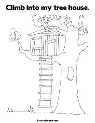 Coloring Pages Of Tree Houses Magic Tree House Coloring Pages