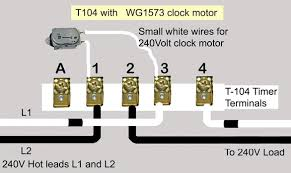 how to wire intermatic t104 and t103 and t101 timers basic wiring diagram