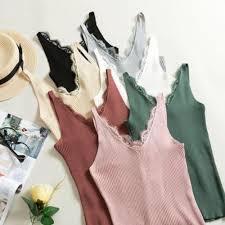 Sexy <b>Women</b> V Neck <b>Sleeveless</b> Knitted Tops T Shirt <b>Spaghetti</b> ...