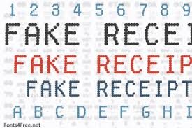 Fake Receipt Font Download - Fonts4Free