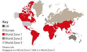 international world zones for delivery