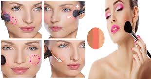 apply blush on step by step perfectly for diffe face shapes makeup