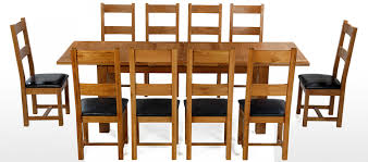 dining table 10 chairs. barham oak 180-250 cm extending dining table and 10 chairs