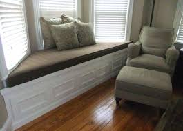window seat furniture. Window Seat Home Decor Decorations Interior Furniture Interesting White Wooden Bay With