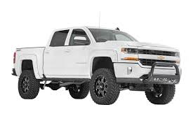 Truck black chevy truck : Rough Country Wheel to Wheel Nerf Steps for 2014-2018 Chevrolet ...