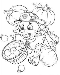 Paw Patrol Coloring Page Marshall And Pumpkin Get Coloring Pages