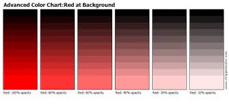 Red Color Chart Stripgenerator Com Advanced Color Chart Red At Background