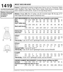 Simplicity Pattern Size Chart Choosing The Size Thats Right For You Sewnthrough