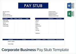 paycheck stub sample free free pay stub template download small business pay stub template