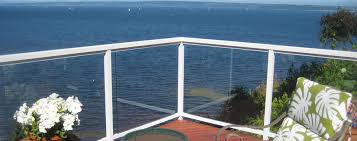 contemporary railings with tempered glass infill easy320