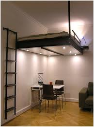 space saving apartment furniture. Bright Ligts Under Loft Bed To Illuminate Lower Table Set As Space Saving Furniture For Tiny Apartment A