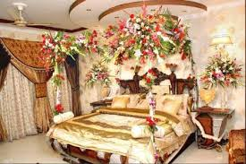 bridal room decoration with flowers