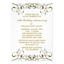 Printable Anniversary Party Invitations Template For Anniversary