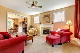 Peach Living Room Residential Belmont Carpet
