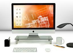 to enlarge computer monitor riser glass stand and desk organizer