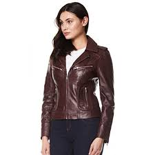 rider las real leather jacket red soft napa biker motorcycle style 9823 brown short jackets