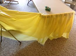 ... Diy Tulle Tablecloth Inspirational How To Make A Table Skirt Out Of A  Plastic Dollar Store ...