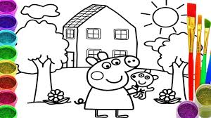 Small Picture How to Draw Peppa Pig Coloring Pages Drawing for Children
