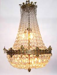 beaded basket chandelier bronze and crystal empire style chandelier w graduated beaded