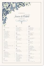 Paisley Ocean Wedding Seating Chart Aquarium Seating
