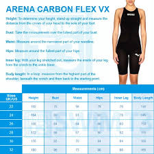 Valid Arena Carbon Pro Size Chart Arena Fastskin Size Chart