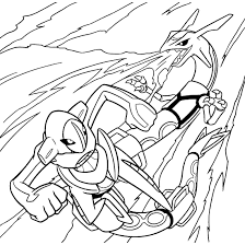 Pokemon Coloring Pages Rayquaza