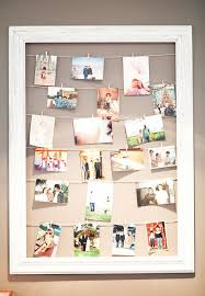 hanging photo collage diy picture frames