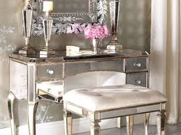 mirrored vanity furniture. Bed Bath And Beyond Vanity Stool Unique Silver Mirrored Table Gallery Furniture Design Ideas S