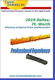 Professional Resume Writers Dallas Amazon Com 2019 Dallas Ft Worth Directory Of Search Firms