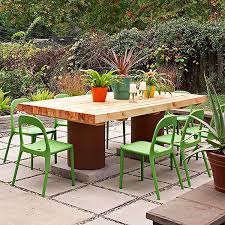 easy diy outdoor dining table. salvage wood table easy diy outdoor dining i