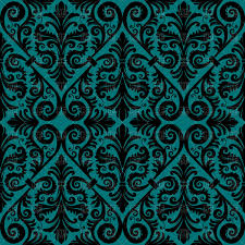 Seamless Blue And Black Damask Background Stock Vector Image