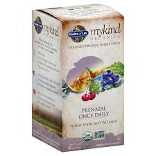 garden of life mykind organics multivitamin whole food prenatal once daily vegan tablets