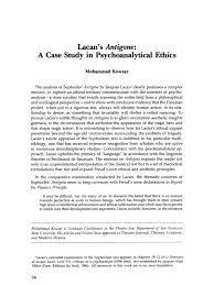 lacan s antigone a case study in psychoanalytical ethics id  lacan s antigone a case study in psychoanalytical ethics id jacques lacan
