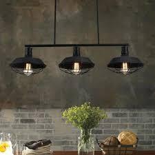 3 light pendant light industrial 3 lights pendant lamp linear bar kitchen island ceiling fixture cage