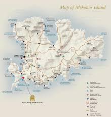 mykonos tourist map