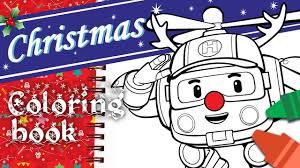 Christmas Coloring Book L Helly L Robocar Poli Special Youtube Christmas Coloring Book L