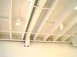 White Basement Ceiling - Exposed basement ceiling