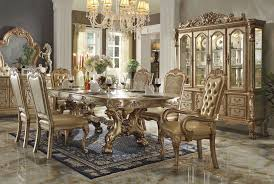 gold dining room table. dresden gold formal dining table set room r
