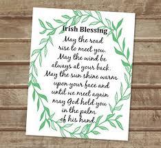 may the road rise to meet you irish blessing art print inspirational art print on irish blessing wall art with amazon may the road rise to meet you irish blessing art print