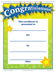 Free Printable Congratulations Certificate Template Pages