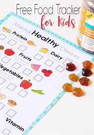 this free printable food tracker is great for encouraging kids to eat healthy no shaming