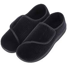 Rack Room Shoes Size Chart Longbay Mens Memory Foam Diabetic Slippers Comfy Warm Plush Fleece Arthritis Edema Swollen House Shoes