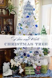 Blue & White Christmas Tree, Flocked White Christmas Tree, DIY Christmas  Ornaments, Walmart