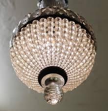 art deco czech crystal chandelier