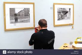 A Museums Technician Prepares The Exhibiton The Geometry Of The