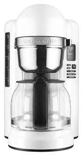 kitchenaid 12 cup coffee maker with one touch brewing white kcm1204wh com