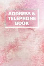 Address Telephone Book Address Telephone Book Organizer Contacts 6 X 9 In 360