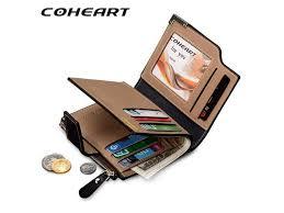 coheart brand wallet men leather men wallets purse top quality male clutch leather wallet man money